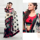 Wedding Net Georgeous Designer Embroidered Sari With Unstitch Blouse - ST 02a N