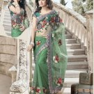 Net Wedding Bridal Embroidered Saris Saree With Blouse- RS 420 N