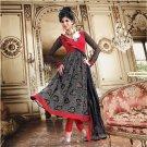 Georgette With Velvet Bollywood Wedding Salwar Kameez Shalwar Suit - DZ 5125b N
