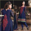 Georgette Bollywood Wedding Salwar Kameez Shalwar Suit - DZ 5124a N
