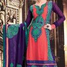 Georgette Bollywood Wedding Salwar Kameez Shalwar Suit - DZ 5102a N