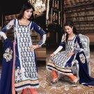 Georgette Bollywood Wedding Salwar Kameez Shalwar Suit - DZ 5124b N