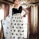 Georgette With Velvet Bollywood Wedding Salwar Kameez Shalwar Suit - DZ 5125a N