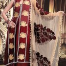 Crepe Jacquard Bollywood Wedding Salwar Kameez Shalwar Suit - DZ 5109c N