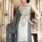 Georgette Bollywood Wedding Salwar Kameez Shalwar Suit - DZ 5107c N