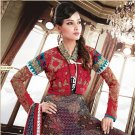 Georgette Bollywood Wedding Salwar Kameez Shalwar Suit - DZ 5127a N