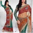 Saris Sarees Indian Bollywood Designer Bridal Wedding Embroidered - TS 16011