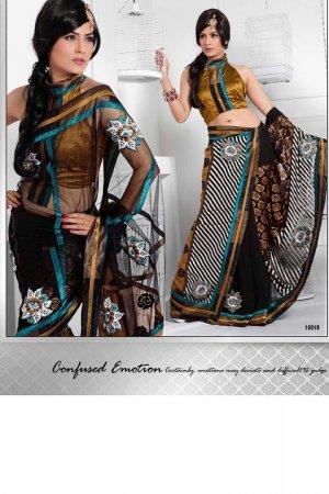 Saris Sarees Indian Bollywood Designer Bridal Wedding Embroidered - TS 16010