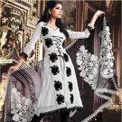 Crepe Jacquard Bollywood Wedding Salwar Kameez Shalwar Suit - DZ 5109a N