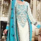 Georgette Bollywood Wedding Salwar Kameez Shalwar Suit - DZ 5107b N