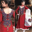 Crepe Jacquard Bollywood Wedding Salwar Kameez Shalwar Suit - DZ 5122c N