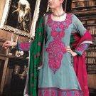 Georgette Bollywood Wedding Salwar Kameez Shalwar Suit - DZ 5110c N