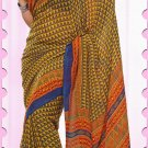 Casual Faux Georgette Designer Printed Sarees With Unstitch Blouse - X 2168B N