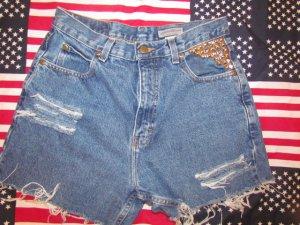 Studded High Waist Shorts