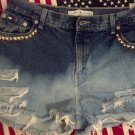 Bleach/Studded Shorts