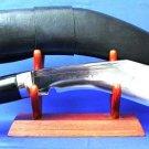 "17"" GURKHA PANAWAL KHUKURI KNIFE-High Grade Steel Blade-Buffalo Horn Handle-Nepal Kukri"