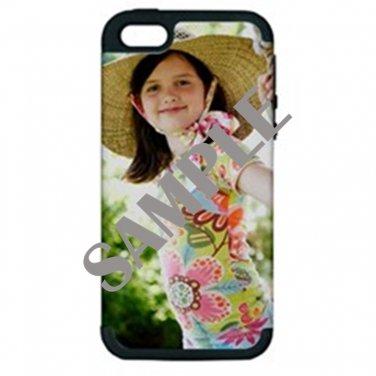 Apple iPhone 5 Hardshell Case (PC+Silicone) (Black)