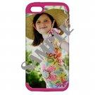 Apple iPhone 5 Hardshell Case (PC+Silicone) (Magenta)