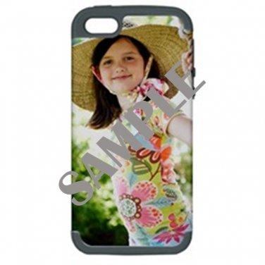Apple iPhone 5 Hardshell Case (PC+Silicone)(Gray)