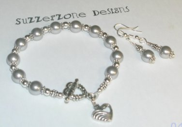 Silver South Sea Pearl Set