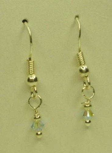 Tiny swarovski crystal earrings