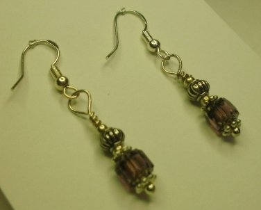 Amythest Cathedral Bead Earrings