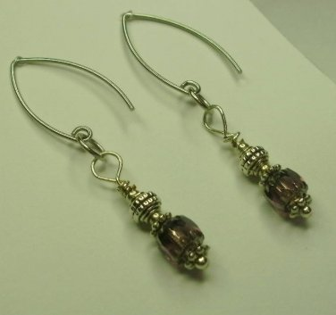 Amethyst cathedral earrings
