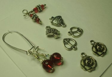 Interchangeable Ruby Earring Set