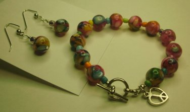 Hippy at Heart Bracelet/Earring Set