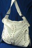 Jumbo Shoulder Style Handbag with Front Stud Design