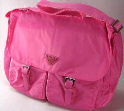 Fuchsia Microfiber Fold Over Handbags with Two Front Pockets