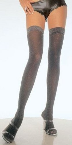 Lurex Thigh Highs with Metallic Thread