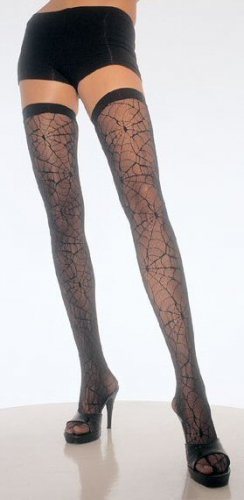 Spiderweb Lace Thigh Highs