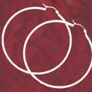 2 Inch Sterling Silver Hoop Earrings
