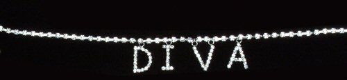 Rhinestone Belly Chain With Hanging Letters - Diva Design
