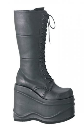Wave - Women's Platform Lace Up Combat Boots