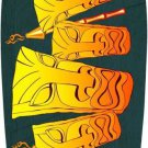 Tiki Metal Novelty Surf Board Sign