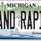 Grand Rapids Michigan Metal Novelty License Plate