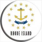 Rhode Island State Flag Metal Circular Sign