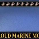 Proud Marine Mom Black License Plate Frame