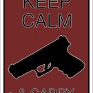 Keep Calm & Carry Metal Novelty Parking Sign