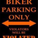 Biker Parking Only Metal Novelty Parking Sign