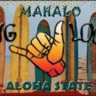 Hang Loose Surfboards Hawaii State Background Novelty Metal License Plate