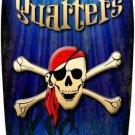 Pirate Quarters Metal Novelty Surf Board Sign