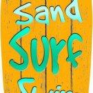 Sunrise Metal Novelty Surf Board Sign