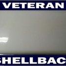Veteran Shellback Photo License Plate Frame