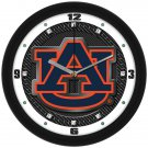 Auburn Tigers Carbon Fiber Textured Wall Clock
