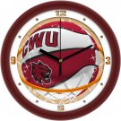 Central Washington Wildcats Slam Dunk Wall Clock
