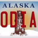 Kodiak Alaska State Background Novelty Metal License Plate