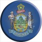 Maine State Flag Metal Circular Sign